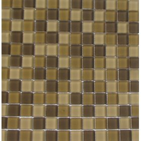 INSBG1X1AUTCT Shimmer Blends Mosaic Glass Tile